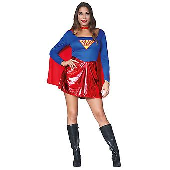 Womens Superhero Fancy Dress Costume