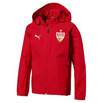 PUMA VfB Stuttgart rain Jr kids rain jacket Ribbon Red