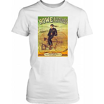 Howe Tricycles vélo - affiche vintage - Penny Black Ladies T-shirt