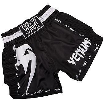 Shorts Venum Mens géant Muay Thai - noir/blanc