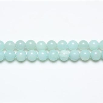 Chapelet 44 + Amazonite Turquoise 8mm perles rondes lisses GS4783-3