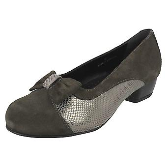 Ladies Da Bella Slip On Heeled Shoes Saltby