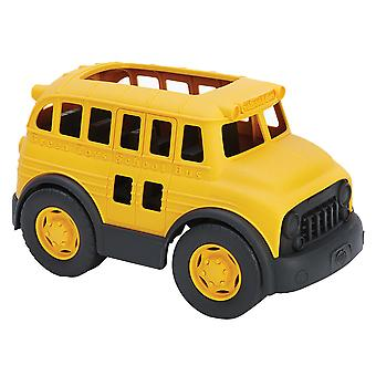 Green Toys Push Along School Bus Toy, BPA Free, Eco Friendly, 100% Recycled