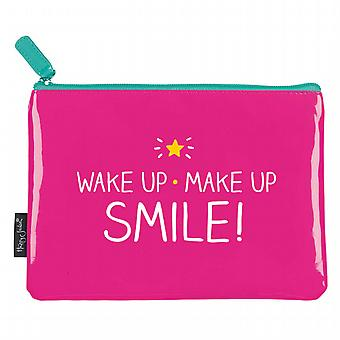 Wake Up Make Up Smile! Make-Up Bag by Happy Jackson / Wild & Wolf