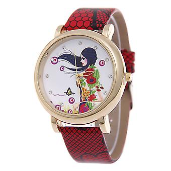 Retro Floral Lady Watches-Red