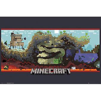 Minecraft subterrâneo Poster Maxi 61x91.5cm