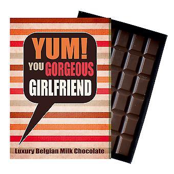 Present till Lovely Girl dotter vän lyx boxed choklad Hälsningar kort present för kvinnor YUM115