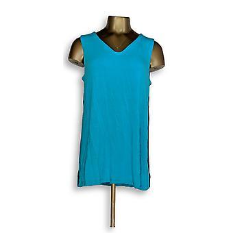 H door Halston vrouwen ' s top Essentials mouwloos V-hals tuniek blauw A288323