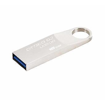 Kingston se9 g2 datatraveler usb 3.0 flash drive 100mb/s read - silver, 16gb
