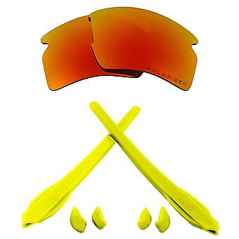 Replacement Lenses Kit Compatible with OAKLEY FLAK 2.0 XL Polarized Red & Yellow