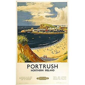 Portrush Northern Ireland fridge magnet  (se)