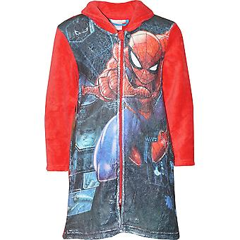 Boys HS2055 Marvel Spiderman Coral Fleece Dressing Gown