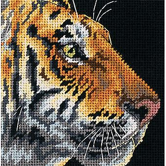 Tiger Profile Mini Needlepoint Kit 5