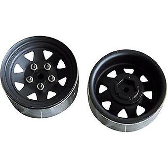 Amewi Complete Truggy wheel with 8-spoke-Rim and tyre profile (010-20314)