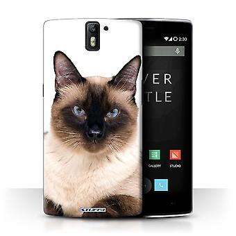 STUFF4 Case/Cover for OnePlus One/Siamese/Cat Breeds