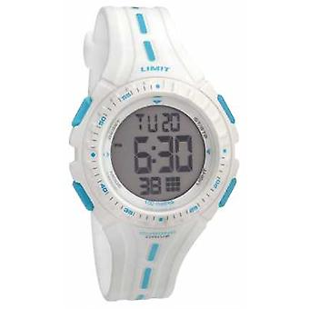 Gränsen ungar Racing Digital vit gummi Strap 5395.56 Watch