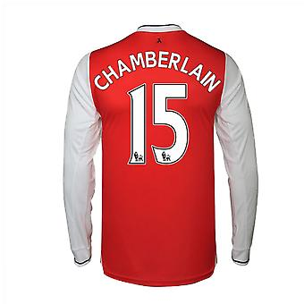 2016-17 Arsenal Long Sleeve Home Shirt (Chamberlain 15)