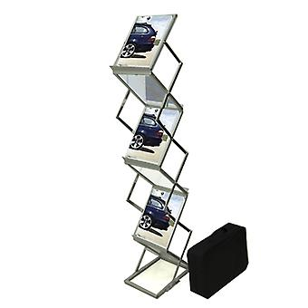 Portable A4 Zig Zag Brochure Stand