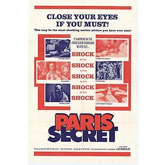 Pariisi Secret elokuva Juliste Tulosta (27 x 40)