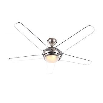 Globo ceiling fan Fabiola Clear with LED light and remote control 137 cm / 54""
