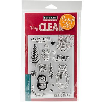 Hero Arts Clear Stamp & Die Combo-Holiday Animals HA-SB131