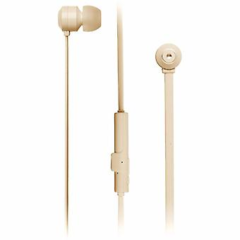 KITSOUND Headphone Ribbons Gold In-Ear Wireless Mic
