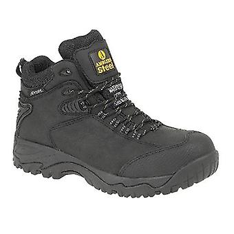 Amblers Steel FS190 Mens Safety Boots Textile Leather Rubber Phylon Sole Lace Up