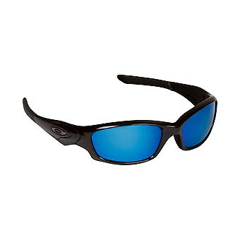 New SEEK Replacement Lenses for Oakley STRAIGHT JACKET Silver Mirror Blue