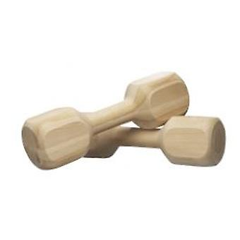 Duvo+ Wooden dumbbell (Dogs , Training Aids , Dumbells & More for Training)