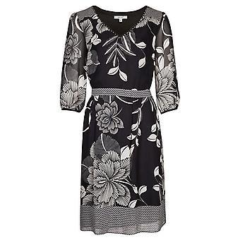 Per Una Monochrome Floral Dress DR896-10