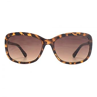 SUUNA Olivia Small Rectangle Sunglasses In Tortoiseshell Gold