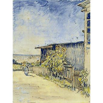 Vincent Van Gogh - Shed with Sunflowers, 1887 Poster Print Giclee