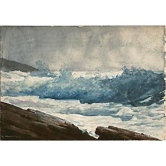 Winslow Homer - Prout's Neck Breakers Poster Print Giclee