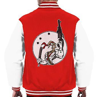 Battle Worm Earthworm Jim Men's Varsity Jacket