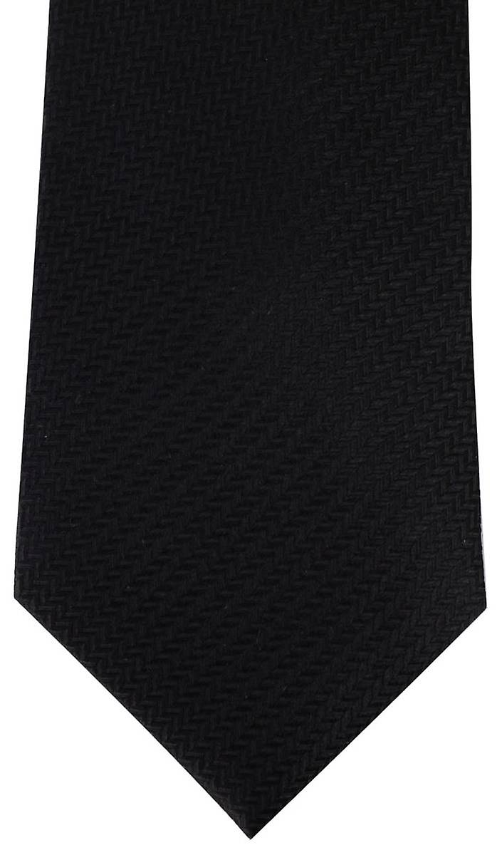 David Van Hagen Herringbone Tie - Black