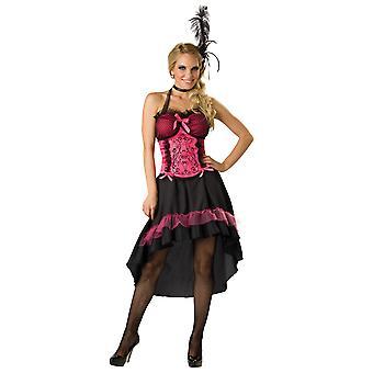 Saloon Gal Showgirl Can Can danser burleske kvinder kostume