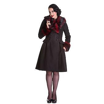 Hell Bunny Black & Purple Rock Noir Coat 4XL