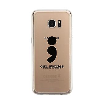 Our Stories-Left Clear Phone Case