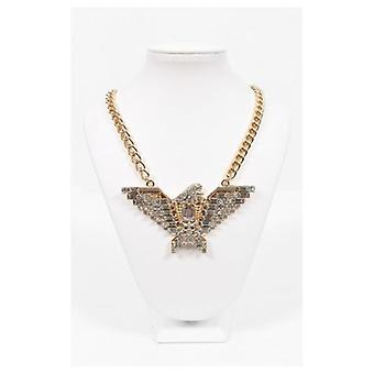 The Fashion Bible Golden Eagle Embellished Bib Necklace