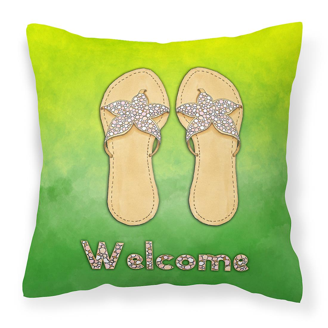 Trésors Bienvenue Oreiller Décoratif Carolines Bb7454pw1818 Flip Flops Tissu tQhrdCs