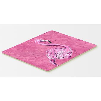 Carolines Treasures  8875CMT Flamingo on Pink Kitchen or Bath Mat 20x30