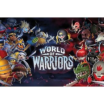 World of Warriors Poster Poster Print