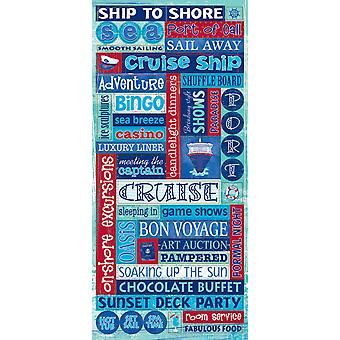 Cruise Stickers Packaged Glitter Word Cpscb 412