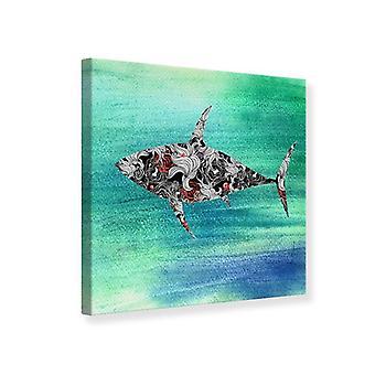 Ornamento de tiburón impresión de lienzo