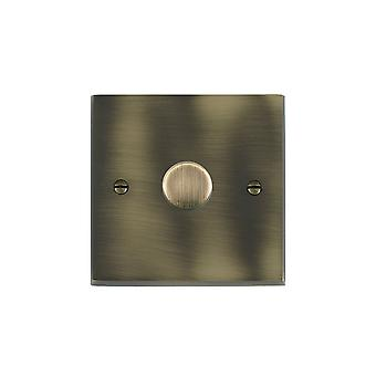 Hamilton Litestat Cheriton Victorian Antique Brass 1g 200VA 2 Way Dimmer AB