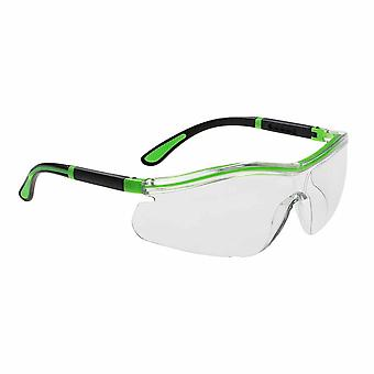 بورتويست--التباين النيون رؤية واسعة نظارات السلامة خفيف الوزن قابل للتعديل