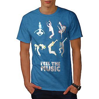 Sentire la canzone di Dj Dance Music BlueT-camicia uomo Royal | Wellcoda