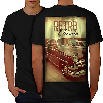 Classic Old Car Vintage Men BlackT-shirt Back | Wellcoda
