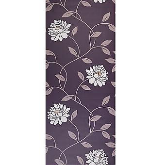 Dulux Easy Hang Feature Wallpaper Roll - Camille - Mulberry - 30-015