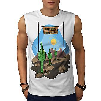 Добро пожаловать в Мексике мужчины WhiteSleeveless футболку   Wellcoda
